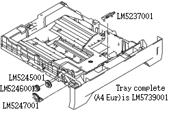 Paper Tray and Parts