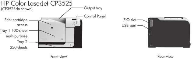 HP Color LaserJet CP3525 Printer